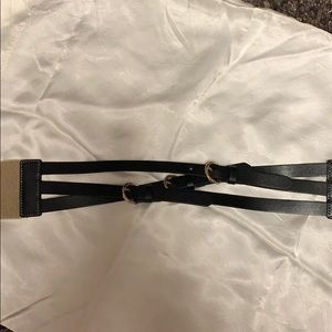 J Crew leather stretch belt. New never worn  small